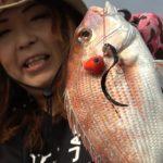 キャスティングタイラバで田中亜衣プロがシャローの大物鯛を狙う!!